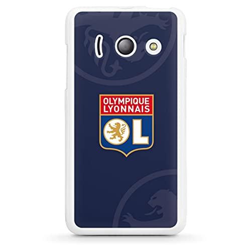 DeinDesign Silikon Hülle kompatibel mit Huawei Ascend Y300 Hülle weiß Handyhülle Fußball OL Olympique Lyon