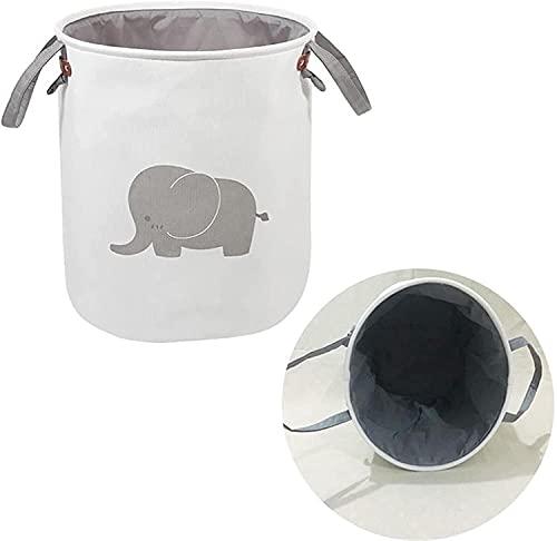 Caja de Almacenamiento para Niños Caja de almacenamiento de juguete Tela plegable Tela de juguete órgano de almacenamiento Cesta de lavadero plegable para ropa sucia Lindo Elefante Juguetes Cestas Bo