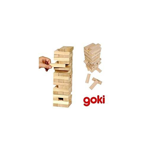 Goki - Jeu de Tour d'équilibre en bois Jeu d'adresse 51 pièces Enfant 5 ans +