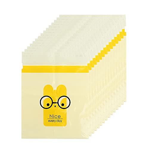 MKNEDS Bolsa de Basura de Coche desechable fácil de Pegar, Bolsa de vómito Biodegradable a Prueba de Fugas, Hermosa Bolsa de Almacenamiento de Cocina, para la Cocina de la Oficina del Coche (Yellow)