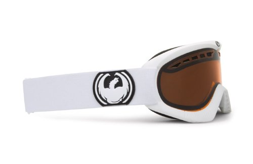 Dragon DXS - Gafas de ventisca para esquí Blanco Powder Amber Talla:Small