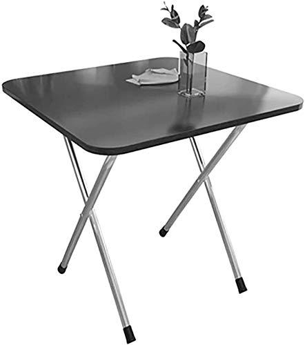 Lloow Mesa Plegable, Mesa de Comedor Principal portátil Mesa de Centro Cuadrada, Escritorio, mesas de Estudio, para el hogar, Dormitorio, al Aire Libre,80X40X72CM