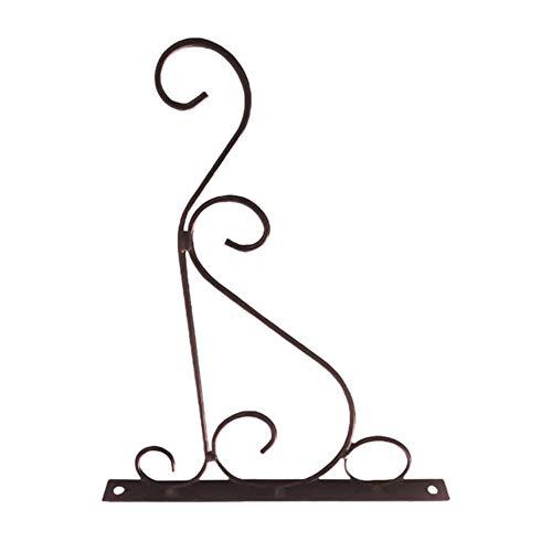 babyzhang Romantique Salle De Bains Décoration Classique Fer Maison Pot De Fleurs Crochet Plantes Aménagement Paysager Support Tenture Balcon Style Européen, S Bronze