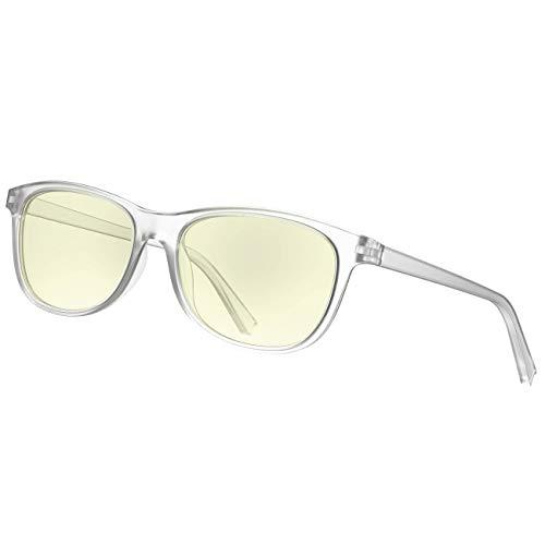 Avoalre Computer Brillen Damen Anti Blaulicht Brille Square Frame Anti-Müdigkeit Anti Blendung Bildschirme-Weiß
