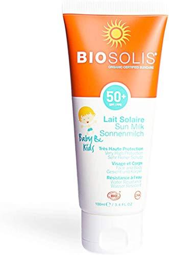 Lait solaire KIDS 50 Haute Protection Biosolis 100ml