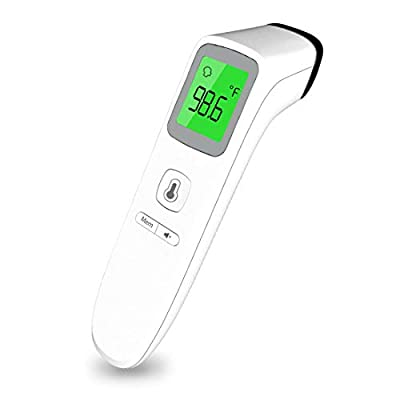 Medical Forehead Thermometer for Fever, Digital Infrared Non-Contact Thermometer with Instant Accurate Reading, Fever Alarm and Memory Function, for Baby, Kids and Adults