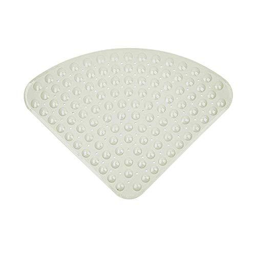 Sector de goma de ducha de esquina alfombra antideslizante alfombra de baño Cuadrante Antibacteriano succión Mat for la ducha o en la bañera, bañera antideslizante Mat, 54x54CM 65 * 65cm Gris @ 54x54c