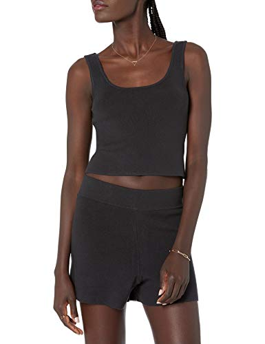 The Drop Women's Angelica Cropped Supersoft Scoop Neck Tank