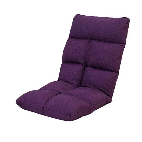 Spielboden Stuhl, Faule Schlafsofa, hohe Rückenlehne, weiches Kissen, leicht faltbar Adult Lounge Chair (Color : Purple)