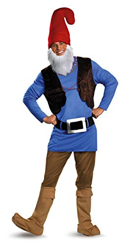 Disguise Men's Papa Gnome Costume, Blue/Brown/Red, XX-Large