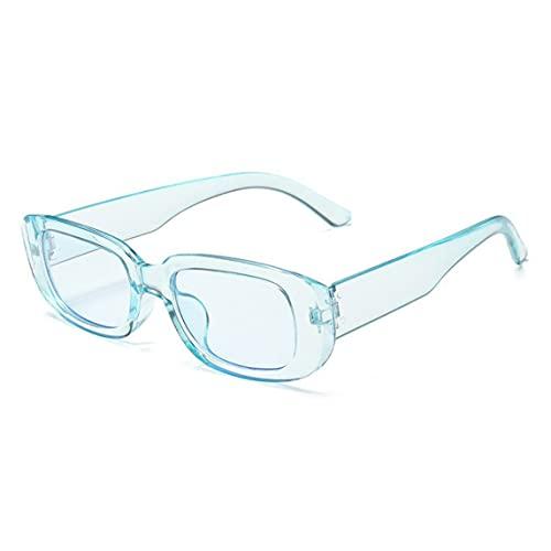 Petrichori Gafas de Sol cuadradas con Montura pequeña, Coloridas Gafas de Tiro en la Calle, duraderas, Ligeras y Elegantes, para Motocicleta - Azul 146 X 138 Mm