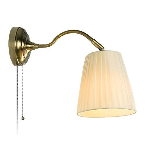 Aplique de pared clásico aplique Lámpara de pared, la pared de luz de estilo nórdico, lino pantalla de la tela, sala de estar dormitorio de noche Pantalla Ajustable Aplique de pared de bajo consumo Wa