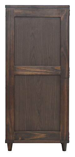 ヤマソロチェスト11段木製多段チェストレターケースB4収納可能北欧書類整理ブラウンブッシュ77-207