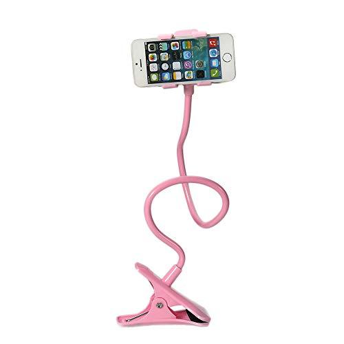 jianji Clip Universal para Teléfono Móvil 360 Soporte Giratorio para Clip Perezoso Soporte de Mesa de Cama de Escritorio GPS Soporte Compatible con Cualquier Teléfono