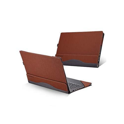 for Lenovo Yoga 720/Yoga 730 Case, PU Leather Folio Stand Protective Laptop Cover for Lenovo Yoga 720-13/Yoga 730-13 13.3 Inch,Brown