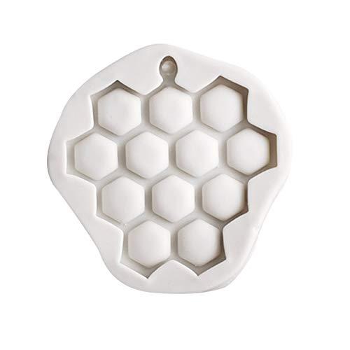 Molde redondo para pastel de nido de abeja, pan para hornear, decoración de Chocolate, bloque de hielo hecho a mano, silicona, cocina, postre, colmena, pastelería