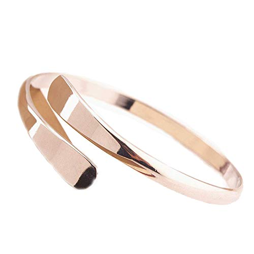 iTemer 1 pieza exquisita moda cobre salvaje apertura ajustable damas pulsera esposa regalo de la madre joyería Plata