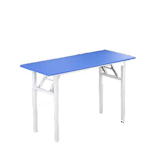 COUYY Klapptisch Training Table Rechtecktisch Farbe Einfache Learning Desk Konferenz Long Table Esstisch,Odd Blue,80 * 50 * 75