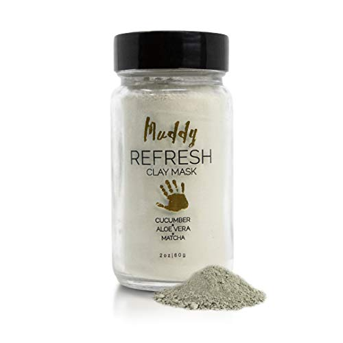 Muddy Body - Refresh Clay Mask | French Green Clay - Cleanse, Tone and Exfoliate Facial Mask (2 oz)