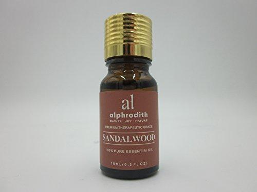 Aceite esencial de sándalo para aromaterapia, 100% aceite orgánico puro, sin diluir, de grado terapéutico - 10 ml para difusor, relajación, terapia de la piel y más