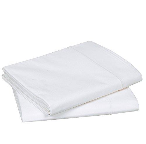 Blanc des Vosges Uni Percale Drap Coton Blanc 240 x 300 cm