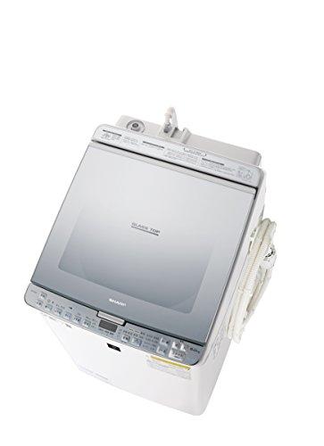 シャープ SHARP タテ型洗濯乾燥機 ガラストップ ダイヤカット穴なし槽 シルバー系 ES-PX8C-S