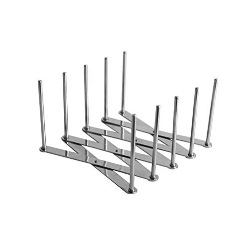 Leepesx Ausziehbare Topfdeckelhalter Mehrzweck-Steamer Rack Einstellbarer Tellerhalter Rack Organizer Küchenschienenhalter Wandmontage Utensilien hängen Rack für Küchenwerkzeuge
