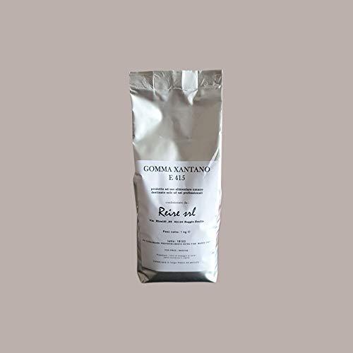 LUCGEL Srl 1 Kg Gomma di XANTANO E 415 80 mesch per Dolci e Gelato Farina Polvere Addensante Alimentare Xanthan Gum destinato solo ad USI PROFESSIONALI
