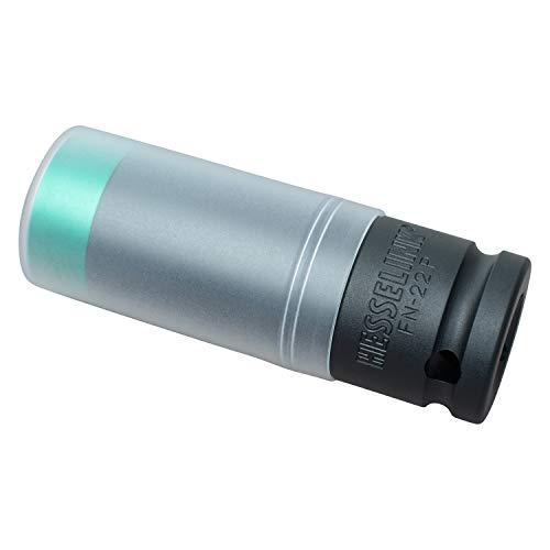 Hesselink, FN-P, kracht-dopsleutels, 1/2 inch, ideaal voor draaimomentsleutels en slagmoersleutel bij het verwisselen van wielen op de auto, velgenmoeren voor personenauto's FN-22P