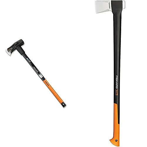 Fiskars Spalthammer X46, 2 in 1: Axt und Hammer, Gehärtete Stahl-Klinge/Glasfaserverstärkter Kunststoff-Griff, Standard, 92 x 26 x 8 cm & Spaltaxt, Inklusive Klingen- und Transportschutz,: 96 cm