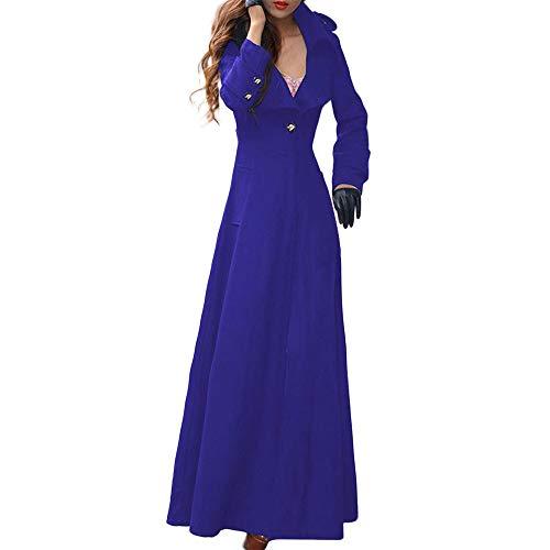 Abrigos de otoño Invierno, Dragon868 Moda de Las Mujeres más Nuevo Partido Solapa Delgada Trinchera Capas largas