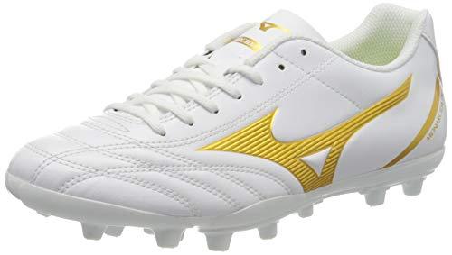Mizuno Monarcidaneoselectag, Botas de fútbol Unisex Adulto, Blanco (White/Gold 50), 42 EU