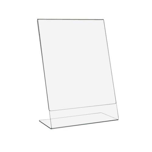5 Stück DIN A4 L-Ständer/Werbeaufsteller im Hochformat aus Acrylglas - Zeigis®