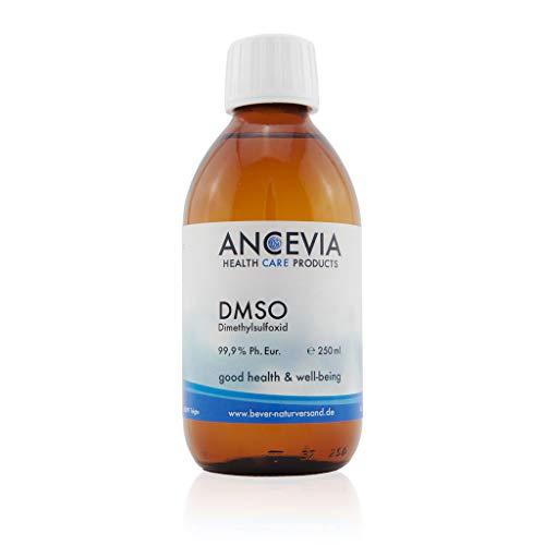 ANCEVIA® DMSO 250 ml - 99,9{7057cc500c206b7fd5b6489dedd2a5b2d81c7c0415e36695b94aec869695a836} Reinheit Ph. Eur. - Dimethylsulfoxid - pharmazeutische Reinheit - in Braunglasflasche
