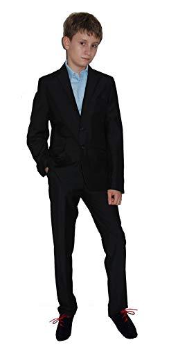 Helgas Modewelt Kommunionanzug, Blazer Anzug zur Kommunion, Jungenanzug, schwarz, Gr. 158