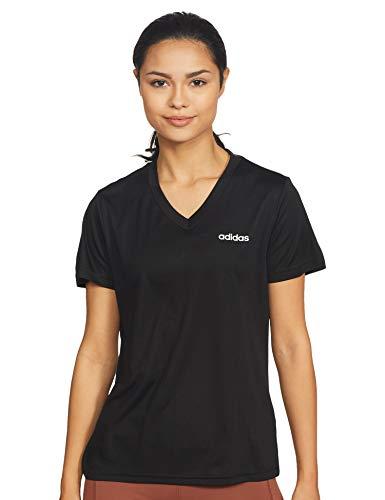 adidas W D2M Solid T Camiseta, Mujer, Negro/Blanco, XS