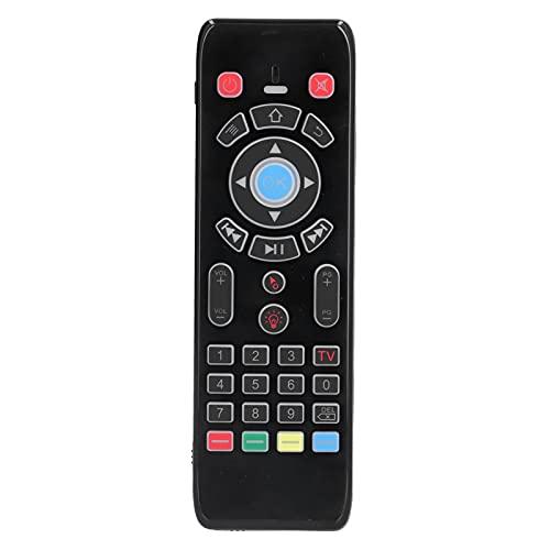 Ratón con control remoto, entrada de voz inalámbrica 2.4G Air Fly Mouse, control manual, con teclado retroiluminado, para la mayoría de televisores inteligentes, cajas de TV, proyectores, computadoras