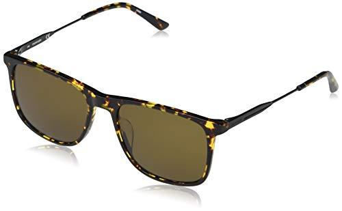 Calvin Klein EYEWEAR CK20711S-239 Gafas, Shiny Amber Tortoise/Solid Cargo, 55-18-145 para Hombre