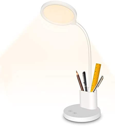 Rechargeable Desk Lamp LED USB Dimmable Study Table Lamp with Pen Holder Winshine Gooseneck product image