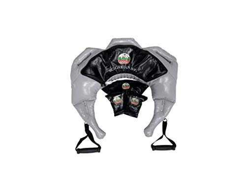 Bulgarian Bag Suples Strong Fit Model (Grey, Large, 37-44 lbs, Synthetic Leather) Suples - The Original Creator - Crossfit, Sandbag, Training Bag, Weighted Bag, Weight Bag.