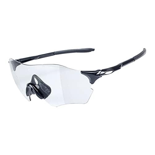 JLJLJL Gafas de Ciclismo Gafas de Sol fotocrómicas para Hombres, Gafas de Sol de Ciclismo Gafas de Bicicletas de Deportes Gafas UV 400 Protección Ciclismo Conducción Correr C5