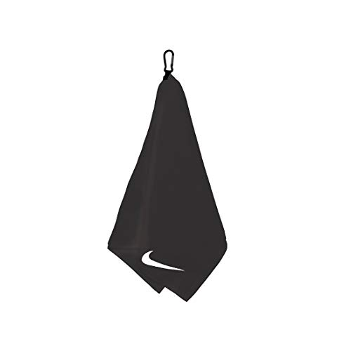 Nike Unisex – Erwachsene Performance Golf Towel Handtuch, Black/White, OSFM