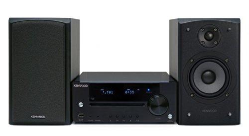 Kenwood R-K731-B Kompakter HiFi-Stereo-Receiver (iPod/iPhone-Ready, PC-Audio Streaming, 2X 50 Watt Digitalverstärker, UKW-Tuner, USB 2.0) schwarz