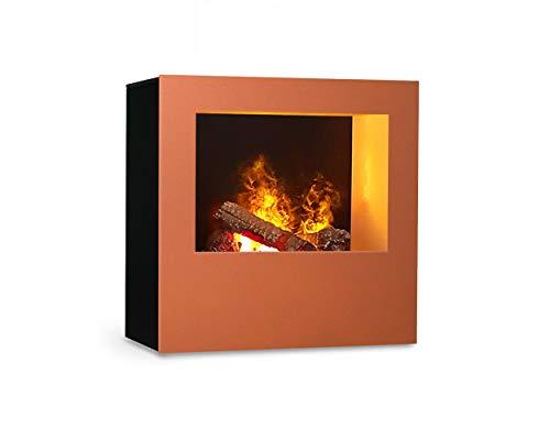 Magma infraroodhaard (koper/zwart), verwarmbare elektrische kachel met Optimyst vlamsimulatie