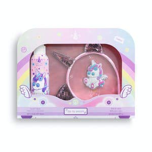 Lote infantil My Unicorn contiene eau de toilette 150 ml, lip gloss y diadema