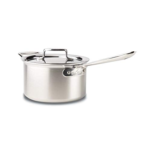 All-Clad BD55204 D5 Stainless Steel Sauce Pan Cookware, 4-Quart, Silver Idaho