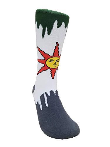 Dark Souls Solaire Sock, Video Game Sock, Playstation Xbox Cotton Crew Sock, Warrior of Sunlight Apparel, Dark Souls 3 Game Merchandise