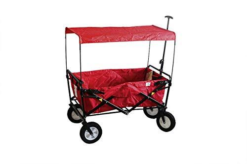 Dach zu Bollerwagen BelSol rot 50x50x89 cm