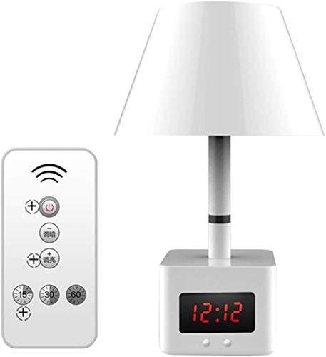 LED-afstandsbediening Bureaulamp USB Opladen met klok Warm wit licht Tafellamp Dimbaar Slaapkamer Nachtkastje Nachtlampje thuis