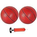 HAHAKEE Mini Baloncesto, 5.5 pulgadas de juguete de baloncesto para interiores, exteriores, fiestas de piscina, pequeños aros de baloncesto para niños, paquete de 2
